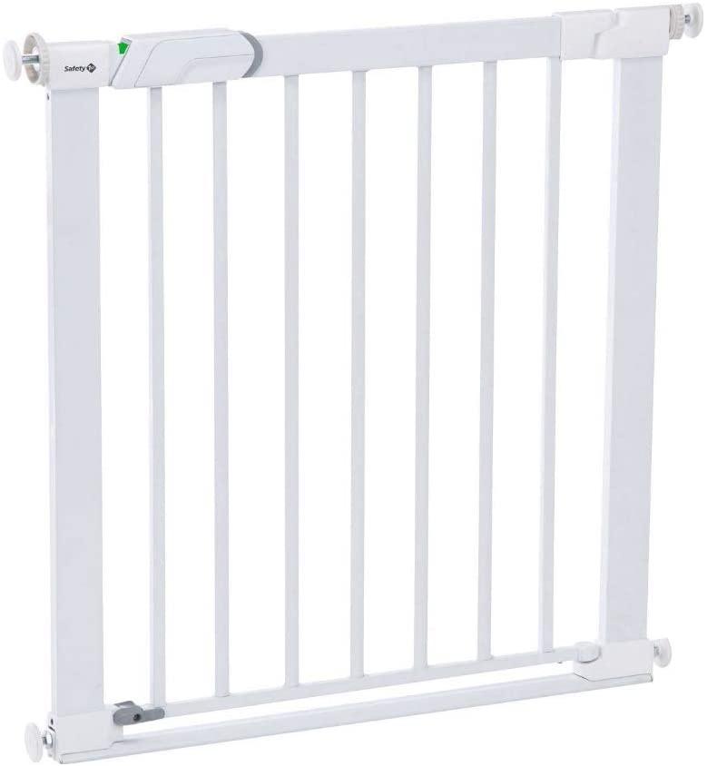 Safety 1st Easy Close Metal - Barrera de seguridad metálica para puertas, Blanco