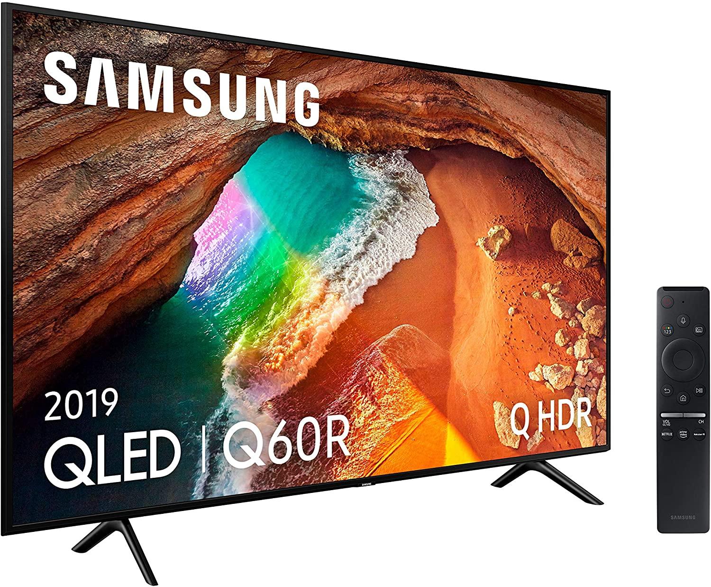 """Samsung QLED 4K 2019 49Q60R - Smart TV de 49"""" con Resolución 4K UHD, Supreme Ultra Dimming, Q HDR, Inteligencia Artificial 4K, One Remote Control, Apple TV y Compatible con Alexa [Clase de eficiencia energética A]"""