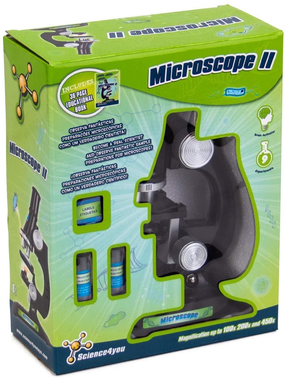 Science4you - Microscopio II - Juguete Científico y Educativo con 9 experimentos