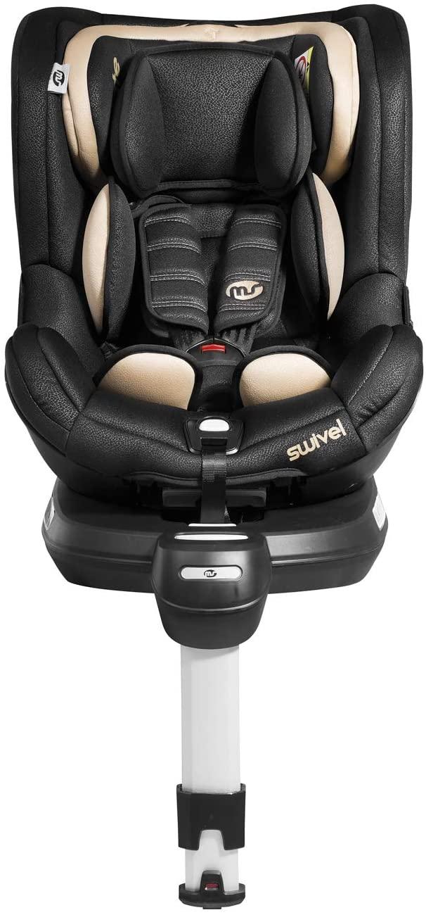 Silla de Coche Swivel Rotative 360º Beige/Negra - Innovaciones MS - Grupo 0-1