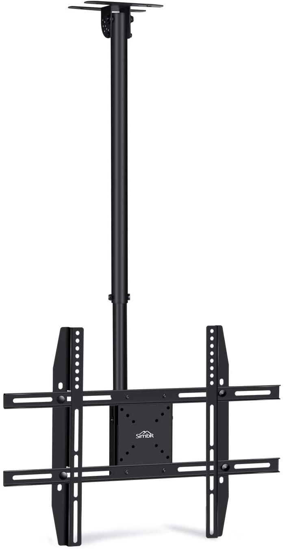 SIMBR Soporte TV de Techo con Altura Ajustable Soporte para Televisión con Pantalla LED / LCD / Plasma de 22-75 '' Carga Máxima 50kg, VESA Máxima 600×400 Inclinable y Giratorio