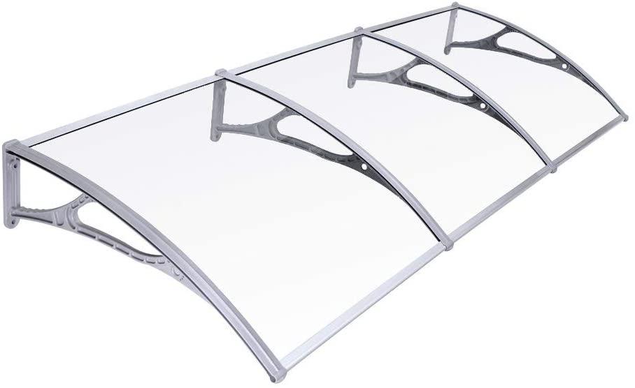 SONGMICS Toldo para terrazas Marquesina Canopy para Puertas 275 x 90 cm GVH279