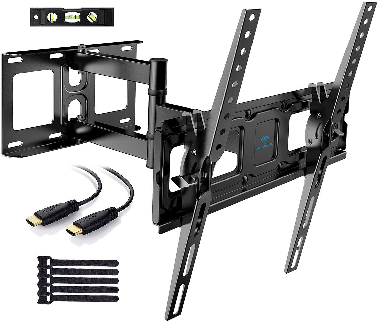 "Soporte de TV Pared Articulado Inclinable Y Giratorio – Soporte De TV para Pantallas De 26-55"" TV – MAX VESA 400x400mm, para Soportar 40 kg, Cable HDMI Y Nivel De Burbuja Incluidos"