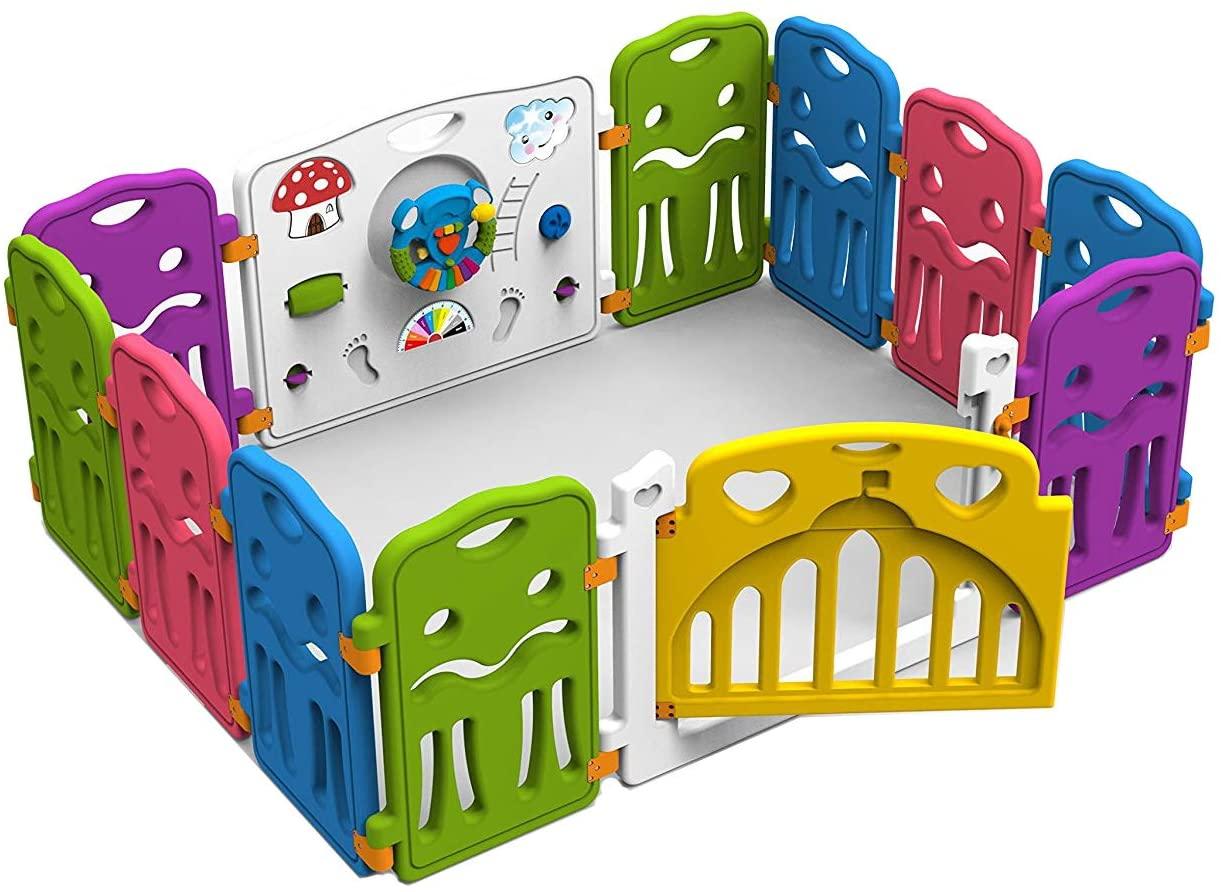 Star Ibaby Kingdom - Parque de bebé modulable, unisex