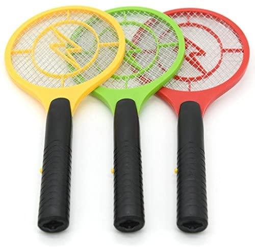 STRIR 1pc Matamoscas Eléctrico Raqueta Mosquitos para Mosquitos, Moscas, Avispas, Abejorros y Otros Insectos Voladores - Color Aleatorio