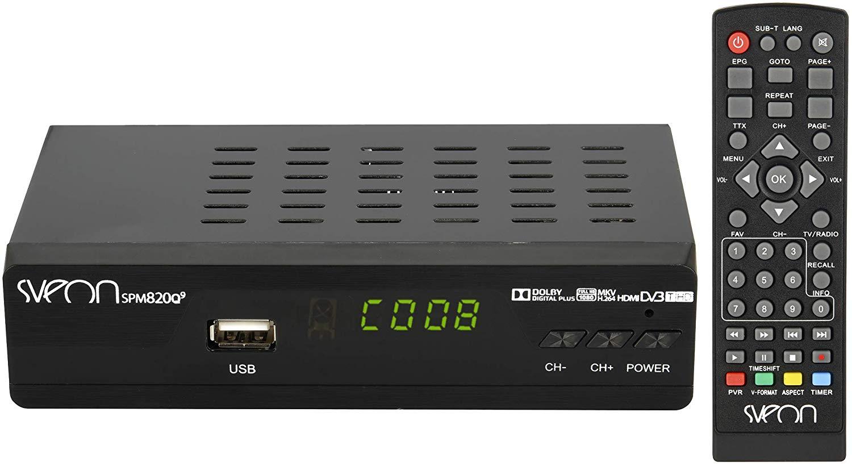 Sveon Spm820Q9 - Reproductor Multimedia Mkv Con Funciones De Tdt, Hdmi Y Euroconector, Color Negro