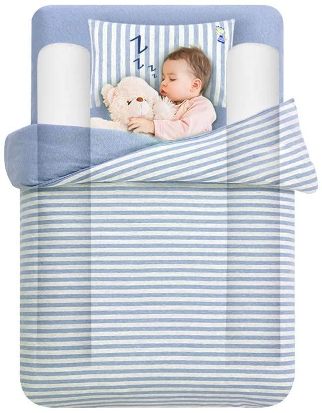 Tebery Barra lateral seguridad de almohada impermeable - Set para cama infantil, para niños