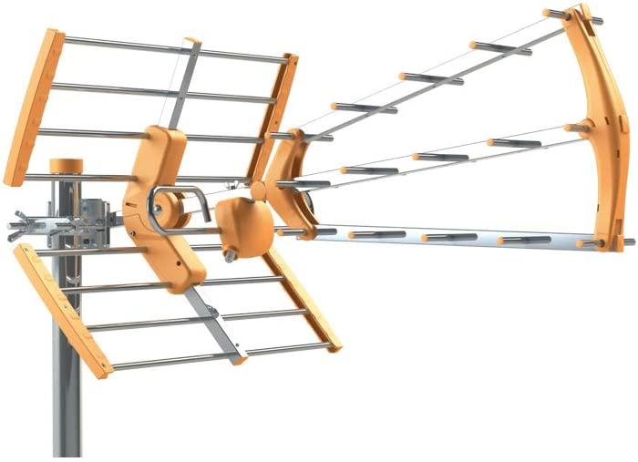 Tecatel ANT-BKM18 Antena BKM Triple plegable, UHF G18dB LTE + Filtro de Regalo (Naranja)