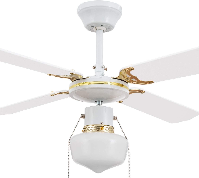 TECHBREY Ventilador de Techo Havoc Blanco 50W Blanco [Clase de eficiencia energética A++]