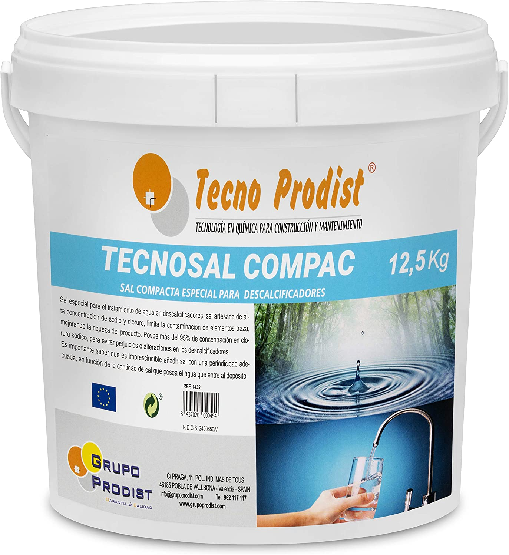 Tecno Prodist TECNOSAL - Sal compacta Especial para descalcificadores - En Cubo de 12,5 kg