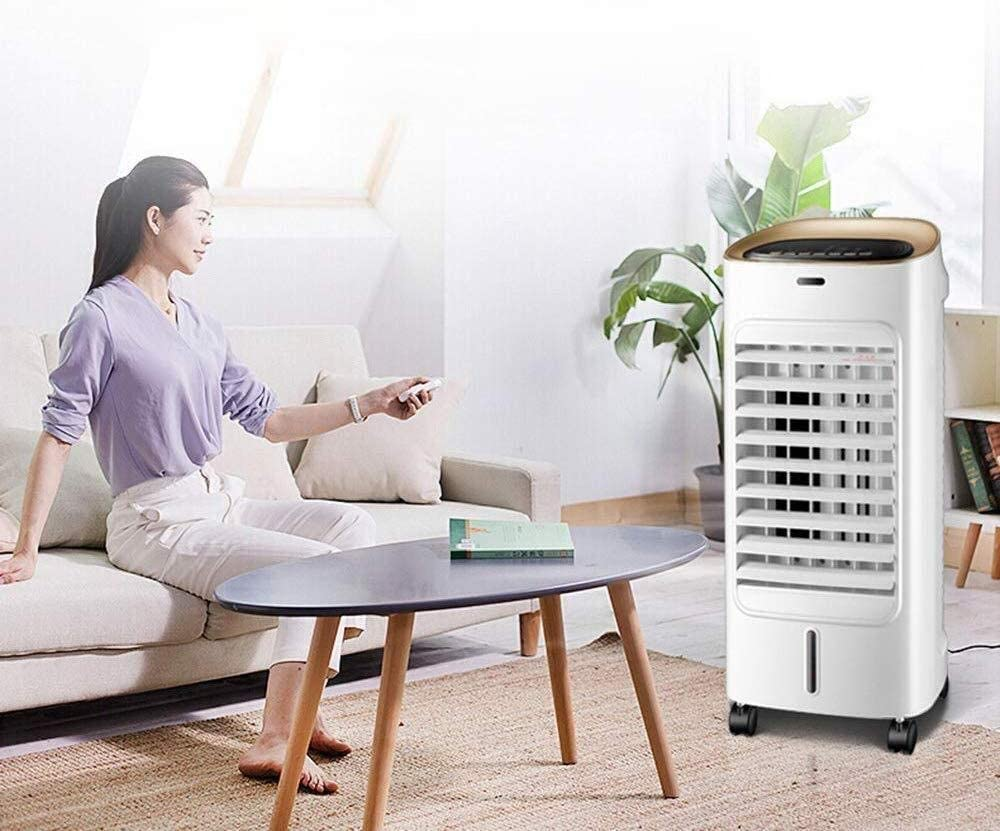 TEHWDE Acondicionadores de Aire móviles Purificadores de Aire Ventilador de Aire Acondicionado, enfriadores de Escritorio para el hogar, enfriadores evaporativos, Control Remoto 60W