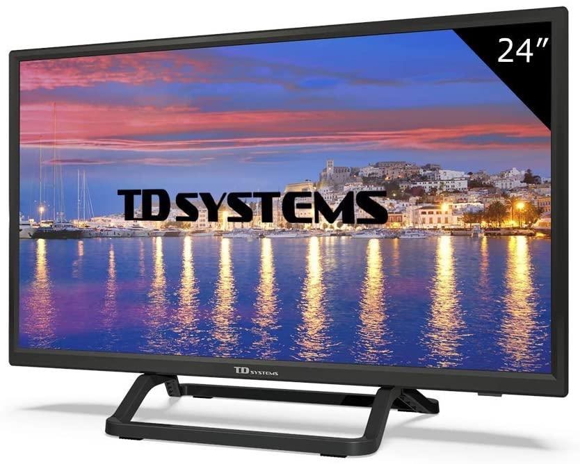 Televisor Led 24 Pulgadas HD, TD Systems K24DLX9H. Resolución 1366 x 768, HDMI, VGA, USB Reproductor y Grabador. [Clase de eficiencia energética A]