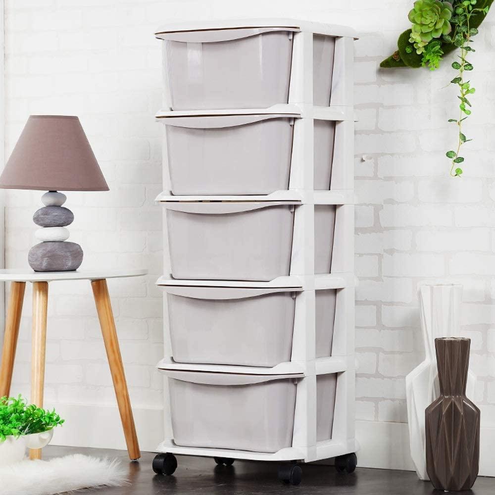 Teng Peng Macarons de almacenamiento en el hogar Montado de plástico Cajón de múltiples capas Caja de almacenamiento de gabinete de almacenamiento de juguetes para niños Gabinete de bebé Gabinete de a