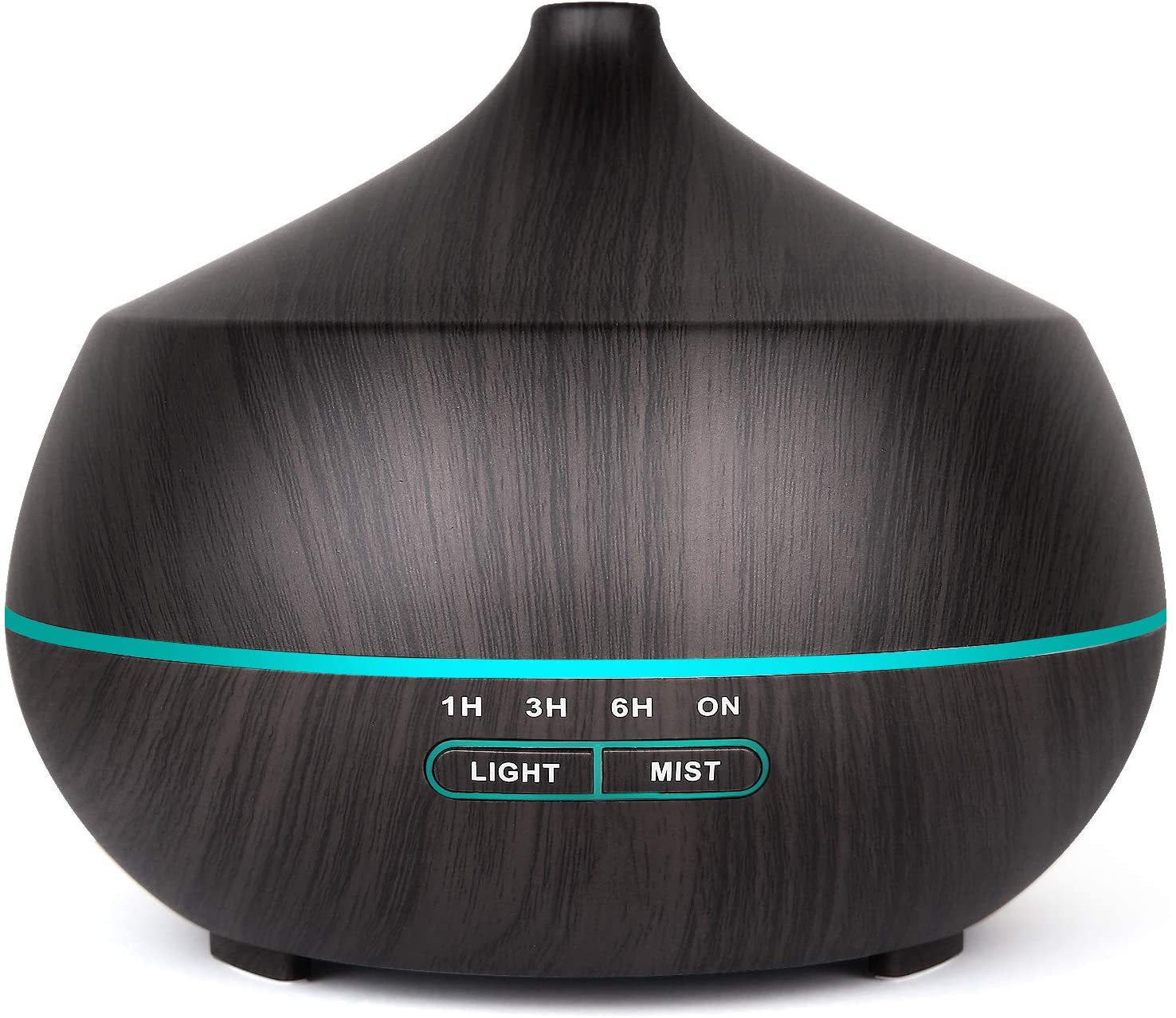 Tenswall Humidificador Ultrasónico,400ml Difusor de Aromaterapia,7-Color LED,4 Temporizador,2 Opciones de Niebla Difusor Aromaterapia para Bebé Yoga Oficina