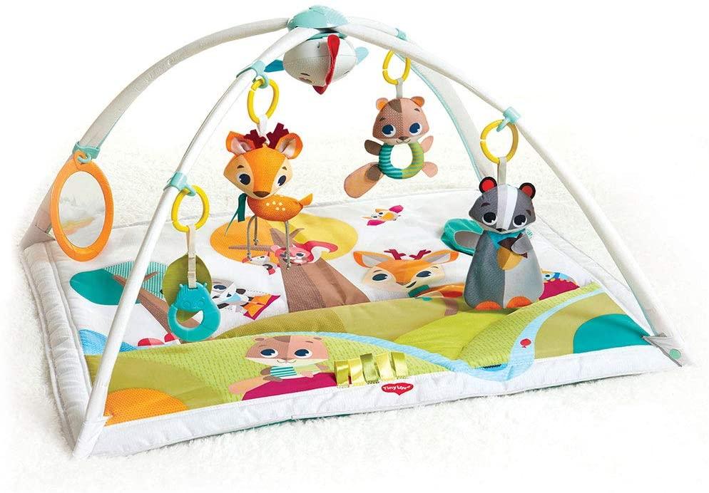 Tiny Love GYMINI DELUXE INTO THE FOREST - Manta musical de juegos para bebés, con 18 actividades para el desarrollo, apta desde el nacimiento, 88 x 78 x 45 cm, multicolor