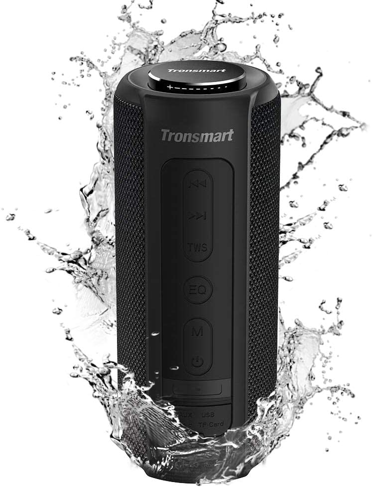 Tronsmart T6 Plus Altavoces Bluetooth 40W, Altavoz Portatiles Waterproof IPX6 con Powerbank, 15 Horas de Reproducción, Sonido Estéreo TWS, Efecto de Triple Bajo, Speaker Bluetooth 5.0 y Manos Libres