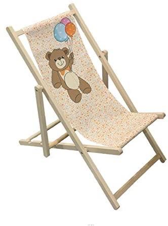 Valdern Teddy–de Madera Plegable para Cubiertas Silla para niños al Aire Libre jardín Patio balcón Camping
