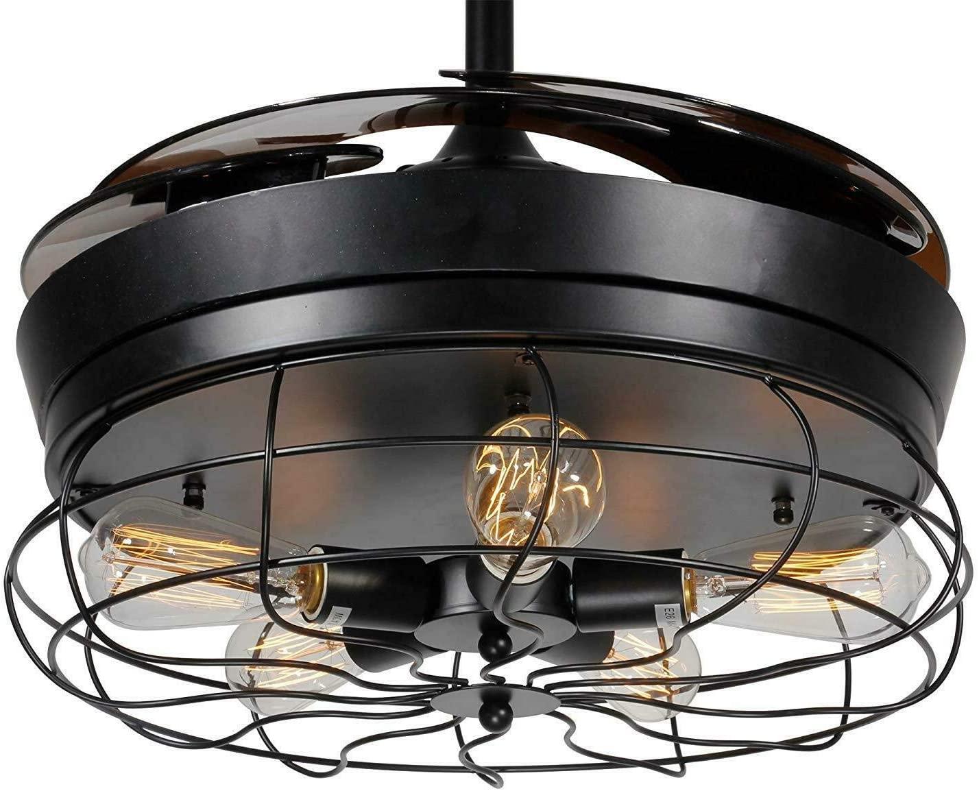 Ventilador de Techo con Lámpara, 42 inch Creativo Ventilador Invisible LED Lámpara de Techo