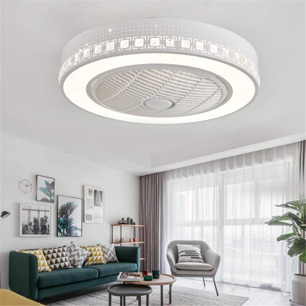 Ventilador de techo LED con mando a distancia regulable, ventilador de techo silencioso, lámpara de techo creativa para habitación infantil , moderna iluminación para salón o dormitorio Blanco -A [Clase de eficiencia energética A++]