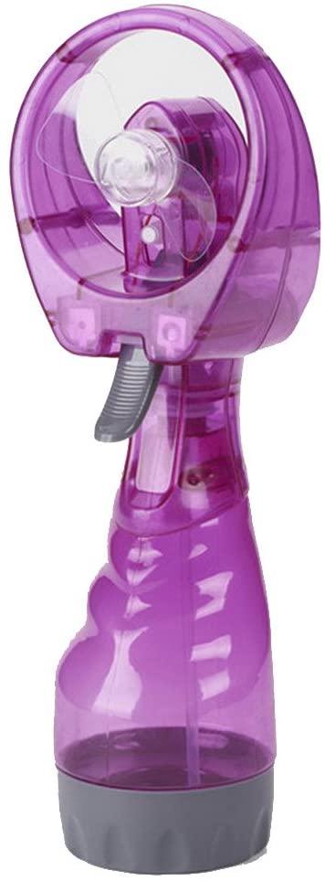 Ventilador del aerosol de agua,VENMO Portátil de Mano de Refrigeración de Agua Fría Spray Ventilador de Nebulización Fan Mist Travel Beach (Púrpura)