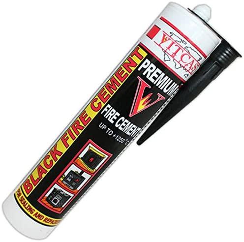 VITCAS - Cemento para Chimeneas, Estufas, 310ml, soporta hasta 1250ºC [Clase de eficiencia energética A]