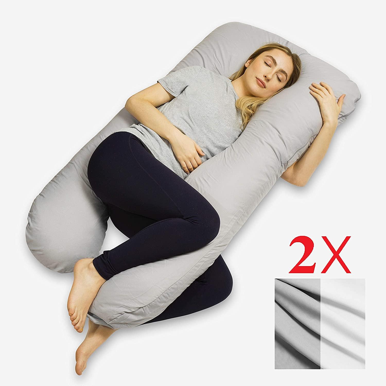 Voll Getestet. Incluye 2 fundas, cojin de lactancia, almohada para dormir de lado, cojin de lactancia, cojin de almacenamiento, relleno de cojin, comodo cojin, almohada corporal
