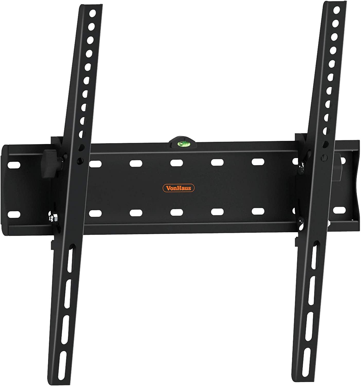 "VonHaus Soporte de Pared para TV de 26""-55"" Inclinable, Peso Máx. 40kg Super Fuerte, VESA Máx. 400x400, para Televisores Pantalla Plana/LED/LCD/Plasma/Curvada/3D"