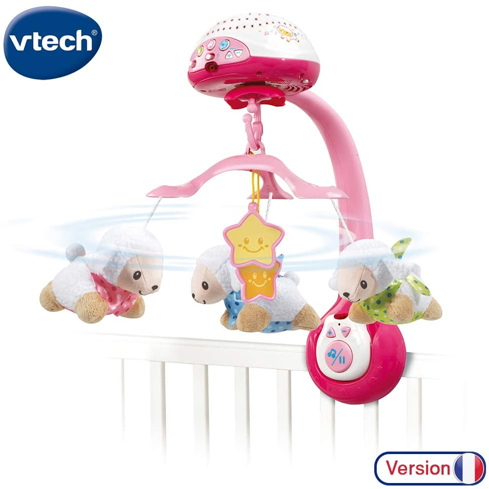VTech–Lumi compte-moutons Rosa Mobile, 503355, Rosa/Blanco