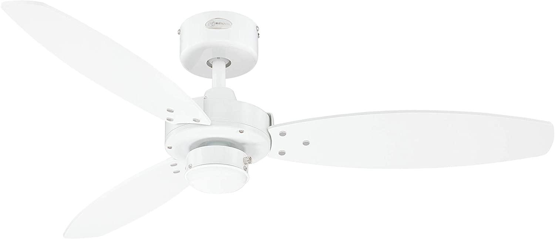 Westinghouse Lighting Jet II Ventilador de Techo, Blanco [Clase de eficiencia energética A+++]