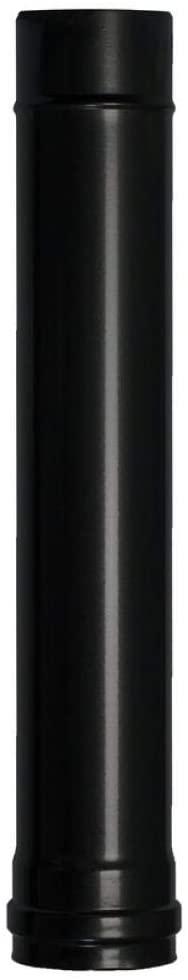 Wolfpack 22013020 Tubo estufa diámetro, Vitrificado Pellet, Ø 80 mm. 50 cm