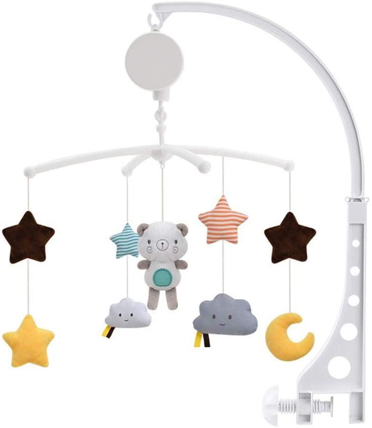 Wovemster Campana De Cama Infantil, Campana De Proyección Remota, Campana De Cabecera De Sonajero De Música para Bebés, Juguete Móvil De Cuna Musical para Bebés De 3-6-12 Meses
