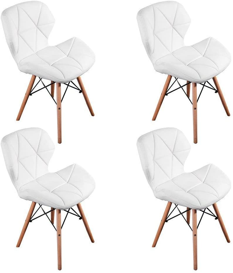WV LeisureMaster Juego de 4 sillas inspiradas en Cecilia Eiffel Millmead Silla de Comedor Blanca de Estilo Retro Silla de Comedor de Estilo Mariposa (Más para Niños)