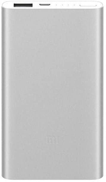 Xiaomi Mi Power Bank2 , Batería Portátil Li-Pol De 5000Mah, Usb-A, Micro Usb, 14.1Mm, Color Plata.