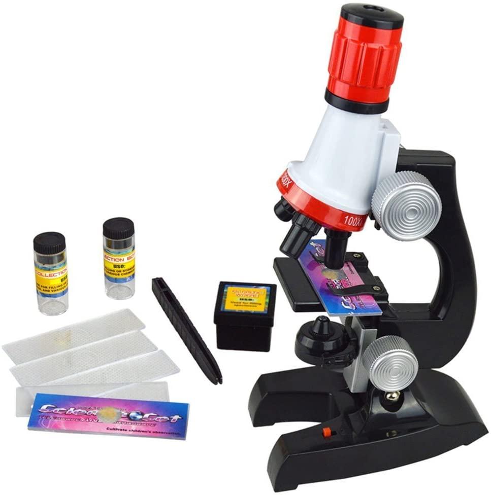 XLKJ Juguete Microscopio Infantil de plástico Portatil para Niños 3 4 5+ Juguete Educativo