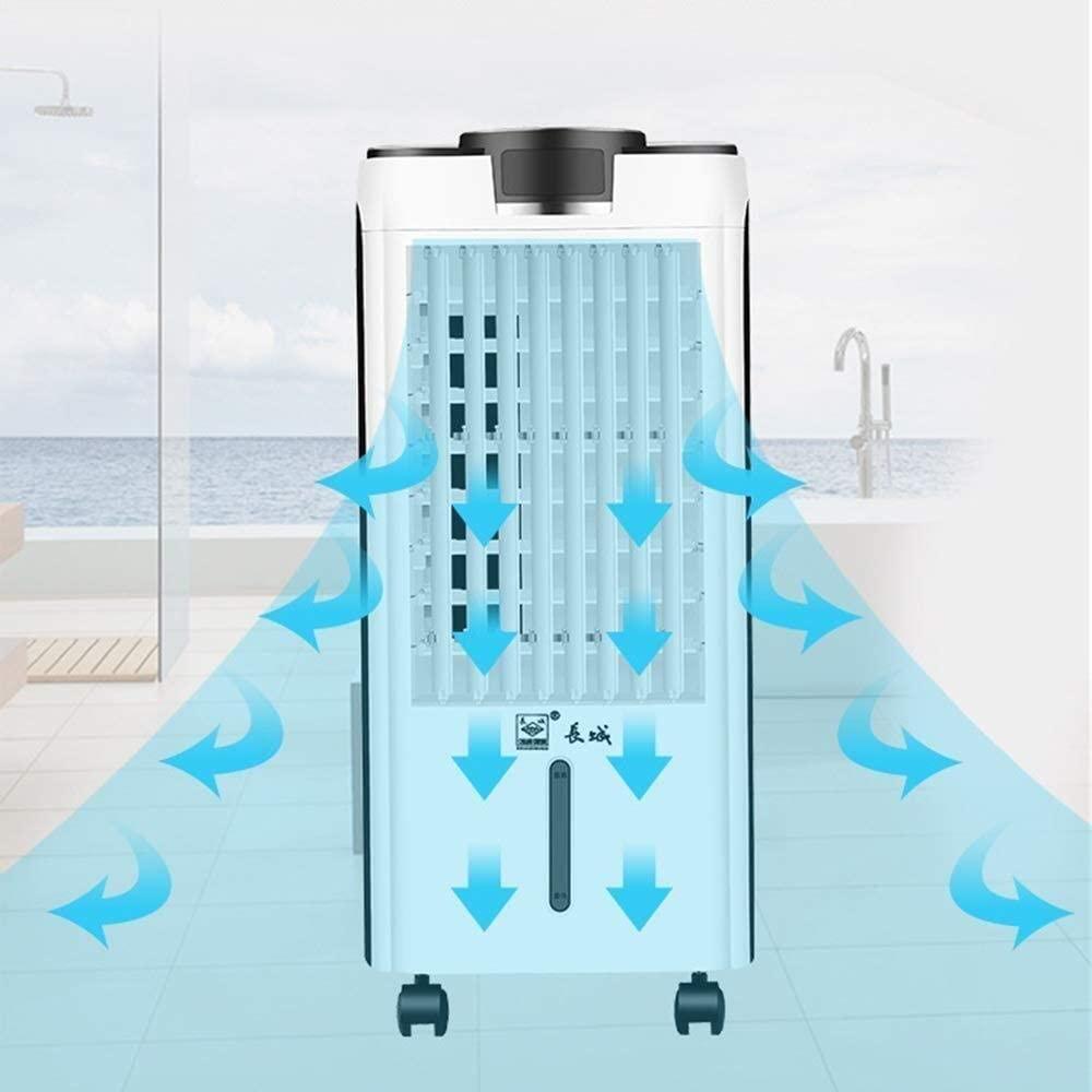 XYSQWZ Enfriadores por evaporación, Ventilador de Aire Acondicionado portátil Triple, Enfriador, Purificador + Humidificadores, Control Remoto, 4.5 L, Velocidad del Viento de Tres velocidades, Blanco