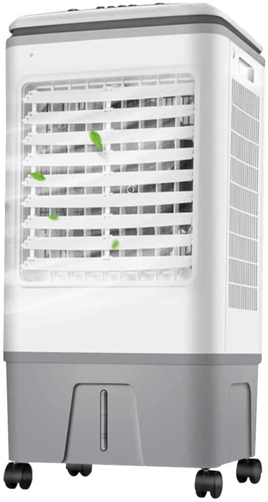 ZQINY Enfriador Enfriadores de Oficina remota Chiller Control Unidad de Aire Acondicionado frío refrigerado por Agua del Aire del Ventilador de Aire enfriadores for el hogar Gris 37 * 33 * 76cm