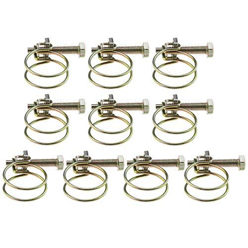 10 abrazaderas de manguera de acero galvanizado de doble línea para varios tubos de plástico de 32 mm