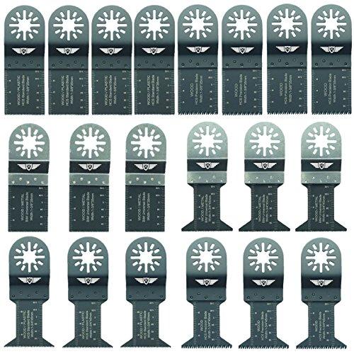 20x topstools unk20Mix cuchillas para Bosch, Fein Multimaster, colores, Makita, Milwaukee, Einhell, ergotools, Hitachi, Parkside, Ryobi, multiherramienta Worx, WorkZone Multi herramienta accesorios