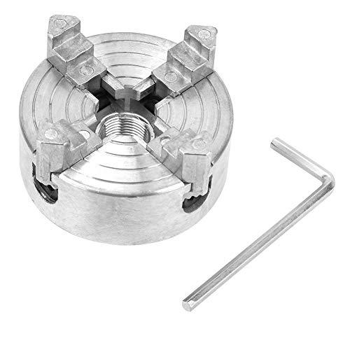 4 Mandíbula de Torno de Mandíbula Robusta Aleación de Zinc Torneado de Madera Abrazadera de Mandril Pieza de Torno de Metal Micro Torneado