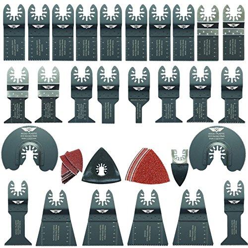 68 x TopsTools FAK68SK Mezcla cuchillas para Dewalt Black and Decker Bosch Fein (No-StarLock) Makita Milwaukee Ryobi Worx Multi herramienta accesorios