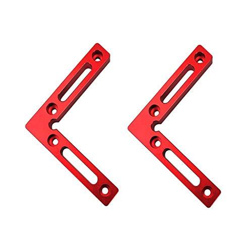 90 grados 4,7 pulgadas x 4,7 pulgadas cuadrados de posicionamiento (Paquete de 2 piezas), aleación de aluminio esquina abrazadera cuadrada, ángulo recto pinzas carpintería carpintería herramienta