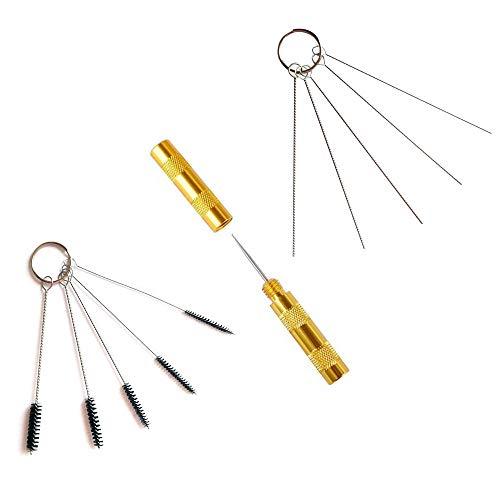 ABEST–Juego de herramientas para la limpieza y la reparación de aerógrafos, con cepillos y aguja de acero inoxidable, 3unidades).