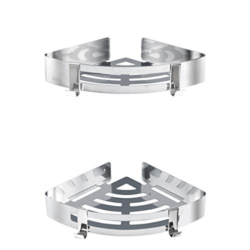 Acelink Estanteria Baño Ducha Rinconera Estantería de Esquina para Baño Ducha acero inoxidable, 2 piezas