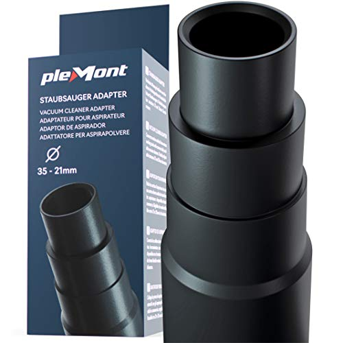 Adaptador aspiradora Plemont® para aspiradoras comunes de taller - Adaptador tubo aspiradora para amoladora, sierra de calar, sierra circular, cualquiera lijadora rotorbital - Reductor