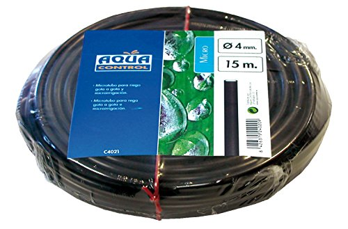 Aqua Control C4021 - Rollo de 15m de micro tubo de 4mm para riego por goteo