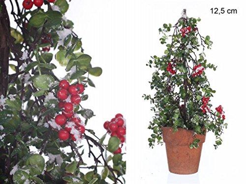 Árbol Acebo Nevado Decoración Navidad