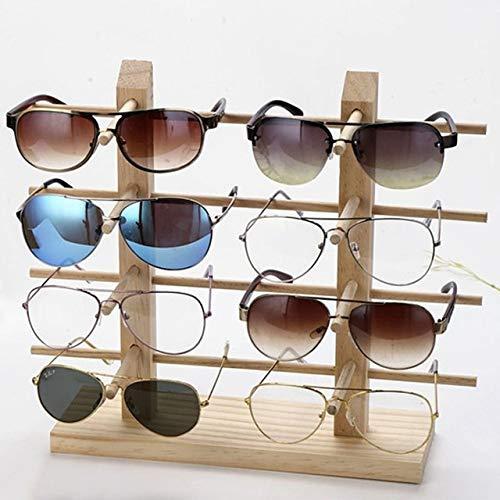 Aututer Nuevas Gafas de Madera Multicapa Expositor joyero múltiples Pares de Gafas Gafas de Mujer Marco