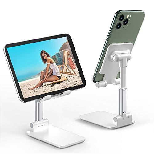 Babacom Soporte Teléfono Móvil Soporte Tablet Portátil Soporte Móvil Mesa Plegable Ajustable En Altura,Adecuado para Dispositivos iPad 11 Pro, iPhone 11 Pro/XR/X/XS / 8 Plus De Menos De 12,9 Pulgadas