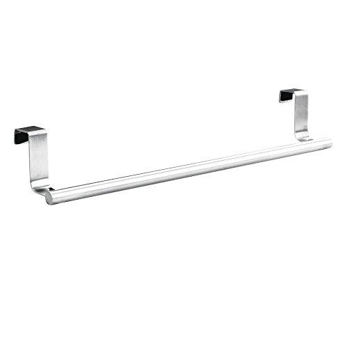 Barra Para Toallas - Percha Para Puerta Ideal Cocina Y BañO - Para Puertas Y Armarios - Acero Inoxidable Pulido, 36 cm