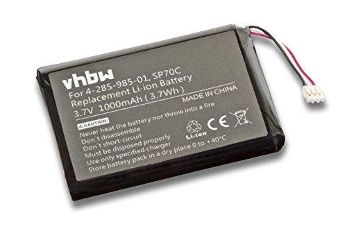 Batería vhbw 1000mAh (3.7V) para consola Sony Playstation Portable PSP Street E1000, E1002, E1003, E1004, E1008 sustituye 4-285-985-01, SP70C